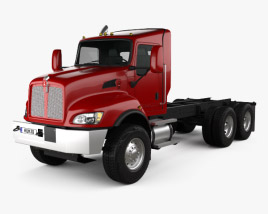 3D model of Kenworth T470 Chassis Truck 3-axle 2009