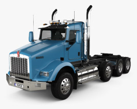 Kenworth T800 Chassis Truck 4-axle 2005 3D model