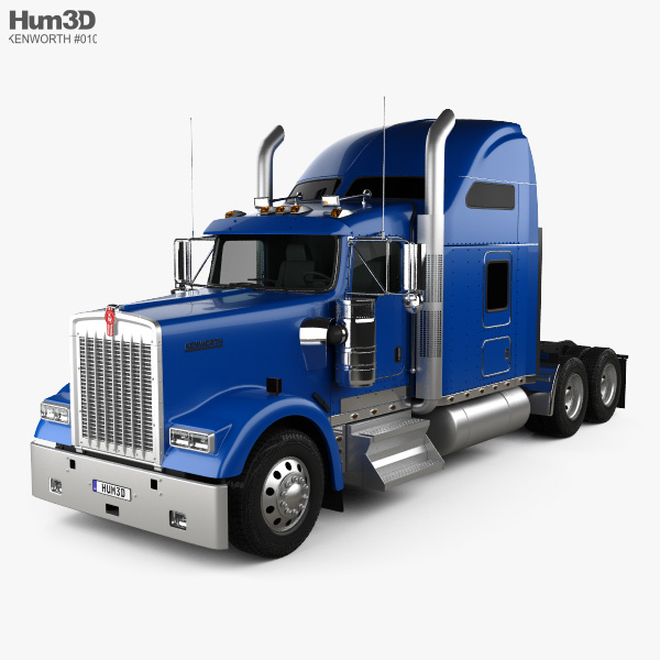 3D model of Kenworth W900L Tractor Truck 2005