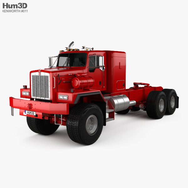 3D model of Kenworth C500 Tractor Truck 2001