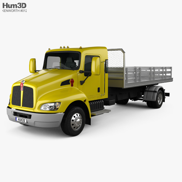 3D model of Kenworth T170 Flatbed Truck 2009