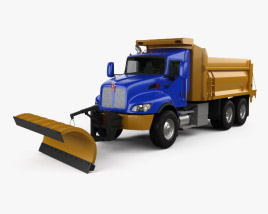 3D model of Kenworth T470 Road Cleaner Truck 3-axle 2009