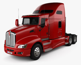 3D model of Kenworth T660 Tractor Truck 2008