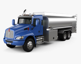 Kenworth T370 Tanker Truck 3-axle 2009 3D model