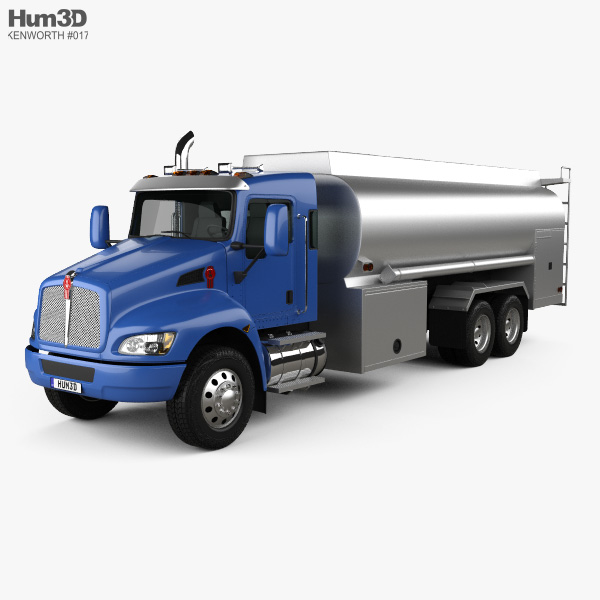 3D model of Kenworth T370 Tanker Truck 3-axle 2009