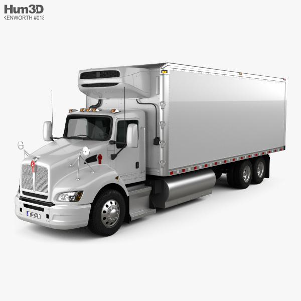 3D model of Kenworth T440 Refrigerator Truck 3-axle 2009