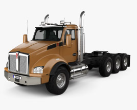 3D model of Kenworth T880 Chassis Truck 4-axle 2013