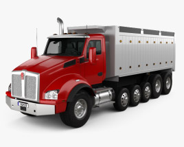 3D model of Kenworth T880 Dump Truck 6-axle 2013