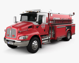 3D model of Kenworth T370 Fire Truck 2009