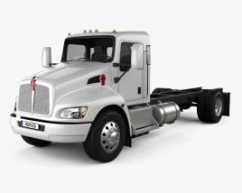 3D model of Kenworth T370 Chassis Truck 2009