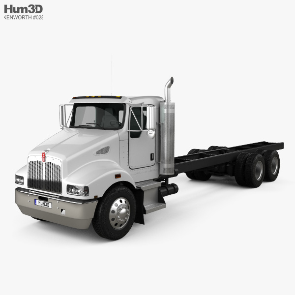 3D model of Kenworth T359 Day Cab Chassis Truck 3-axle 2013