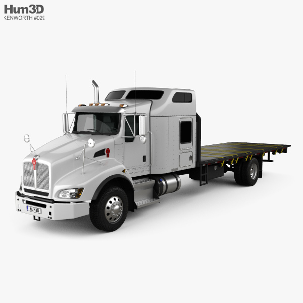 3D model of Kenworth T400 Flatbed Truck 2012