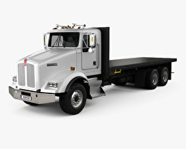 3D model of Kenworth T450 Flatbed Truck 1995