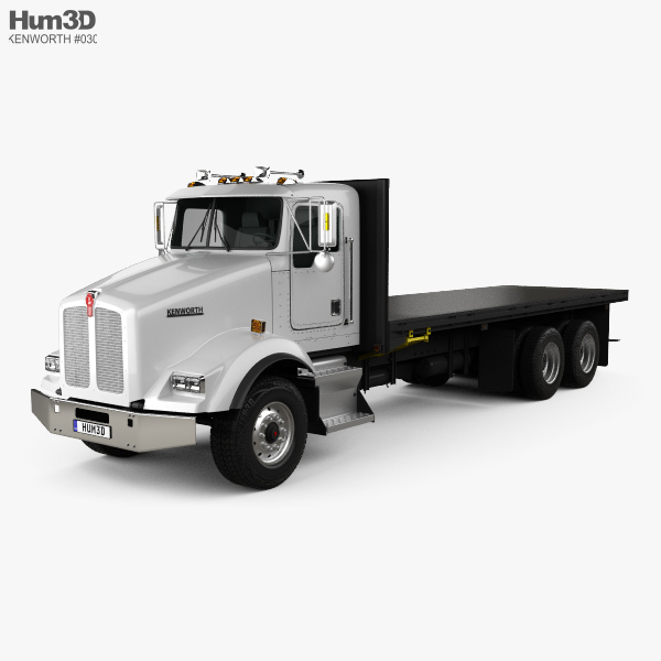 Kenworth T450 Flatbed Truck 1995 3D model