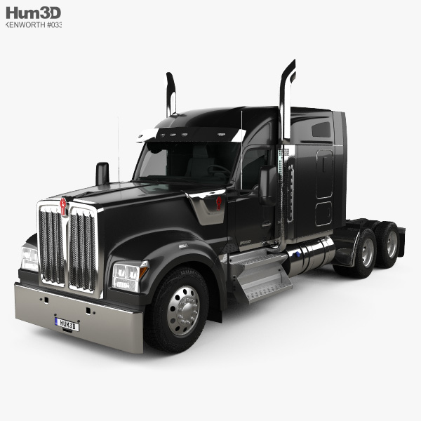3D model of Kenworth W990 72-inch Sleeper Cab Tractor Truck 2018