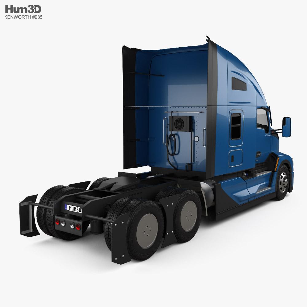 Kenworth T680 Sleeper Cab Tractor Truck 2021 3d model