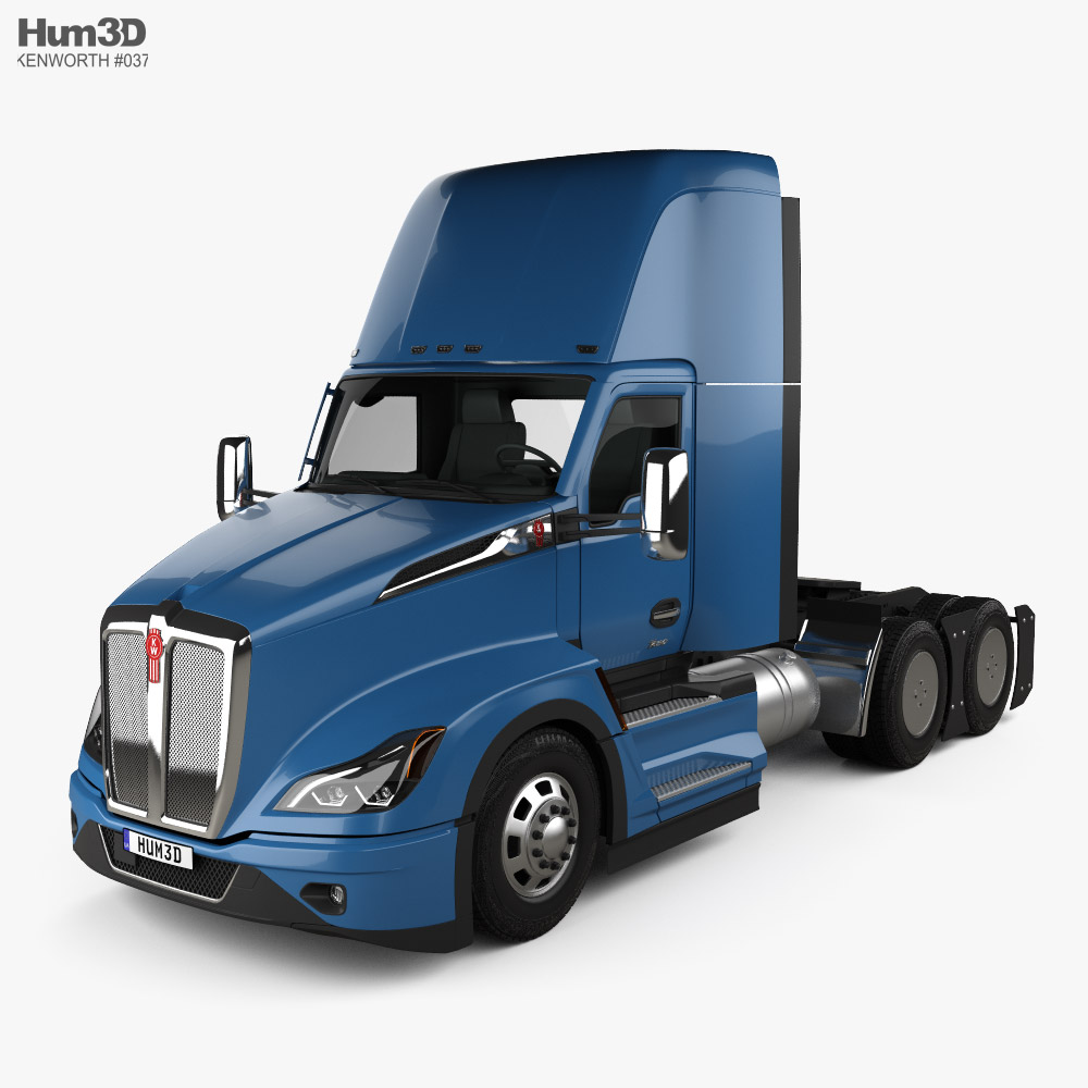 Kenworth T680 Day Cab Tractor Truck 2021 3D model