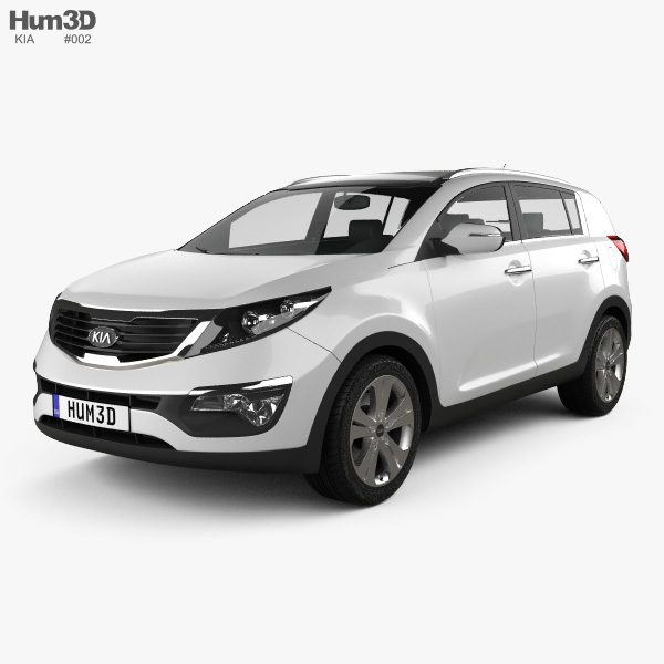 3D model of Kia Sportage 2011