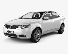 3D model of Kia Forte (Cerato, Naza) Sedan 2011