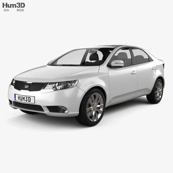 3D model of Kia Forte (Cerato, Naza) Sedan 2011