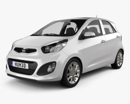 3D model of Kia Picanto (Morning) 5-door 2012