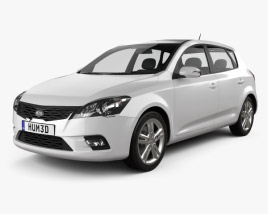 3D model of Kia Ceed Hatchback 5-door 2011