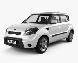 3D model of Kia Soul HotTot IV Van Oven 2011