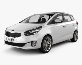 3D model of Kia Carens (Rondo) 2013