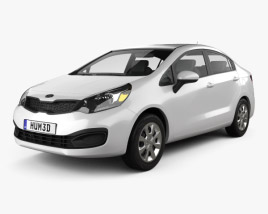 3D model of Kia Rio (US) sedan 2012
