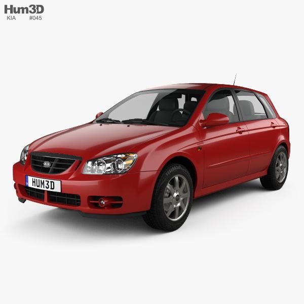 3D model of Kia Cerato (Spectra) hatchback 2004