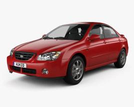 3D model of Kia Cerato (Spectra) sedan 2004