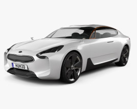 3D model of Kia GT 2011