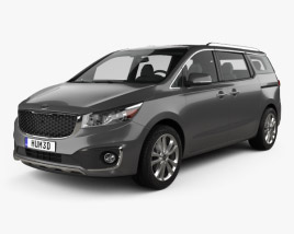 3D model of Kia Sedona SXL 2015