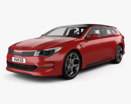 3D model of Kia Sportspace 2015