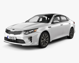 3D model of Kia Optima 2016