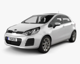 3D model of Kia Rio UB 5-door 2015