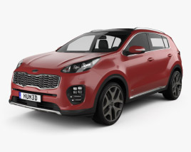 3D model of Kia Sportage GT-Line 2016