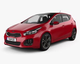 3D model of Kia Ceed GT Line hatchback  2015