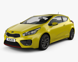 3D model of Kia Pro Ceed GT hatchback 3-door 2015