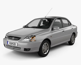 3D model of Kia Rio 2002