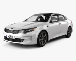 3D model of Kia K5 MX with HQ interior 2016