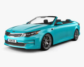 3D model of Kia Optima Roadster A1A 2015