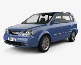 3D model of Kia Carens (RS) 2002