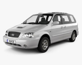 3D model of Kia Sedona 2006