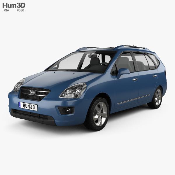Kia Carens 2006 3D model