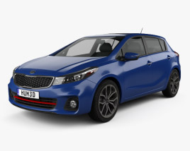 3D model of Kia Forte 5-door hatchback 2017