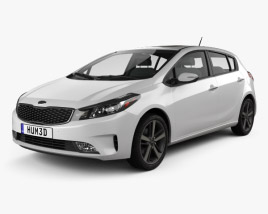 3D model of Kia K3 5-door hatchback 2016