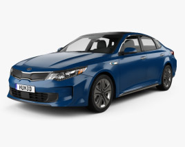 3D model of Kia Optima Hybrid 2017
