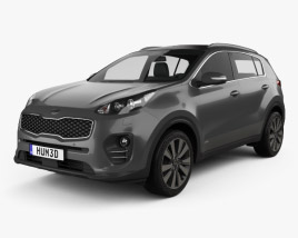 3D model of Kia Sportage 2016