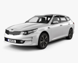 3D model of Kia Optima wagon 2017